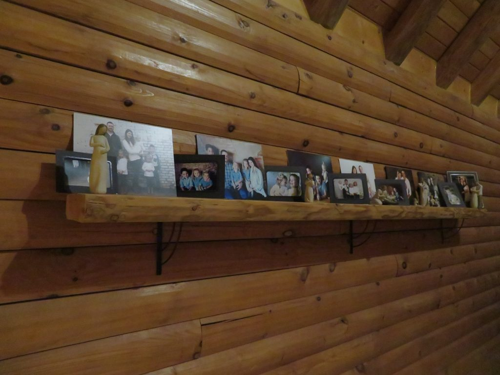 shelf in log home